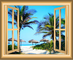 East Urban Home 3d Sandy Beach Window Wall Decal Reviews Wayfair