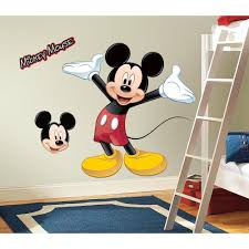 Disney Mickey Mouse Peel Stick Giant Wall Decals Kids Room Nursery Decor Stickers Walmart Com Walmart Com