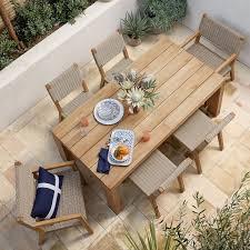 larnaca outdoor teak extendable dining
