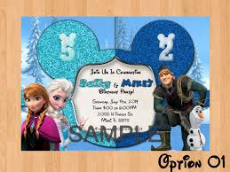 Frozen Invitation Double Frozen Birthday Invitation Disney