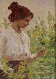 Dame im Garten by Felix Krause on artnet