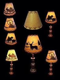 Rustic Lamp Shade Table Light Cabin Cottage Lodge Desk Kids Room Decor Ebay