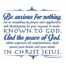 Philippians 4 6 7 Be Anxious Walll Decal Lettering Words Art Decor Sticker Ebay