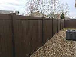 6 Chestnut Brown Vinyl Peak Fencing Company Facebook