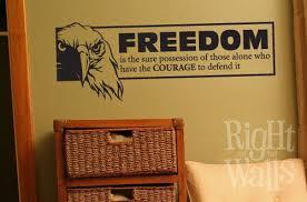 Freedom Wall Decal Military Vinyl Wall Art Americana