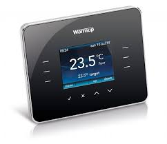 warmup 3ie piano black thermostat