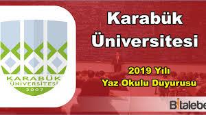 Karabük Üniversitesi 2019 Yaz Okulu Duyurusu ve Akademik Takvim -