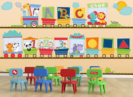 Fisher Price Abc Train Wall Decal Set