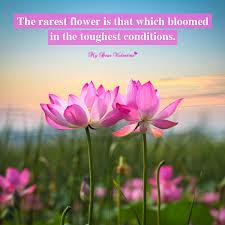 rarest flower motivational picture quote