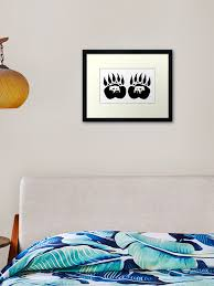 Bear Paw Tracks Framed Art Print By Project2020 Redbubble