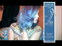 dying hair using shark blue ion color