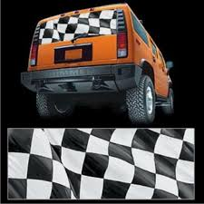 Checkered Flag Truck Or Suv Rear Window Decal Graphic 10005 Glassc Ez Wheeler Com