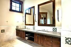 wood framed bathroom mirrors diy vanity