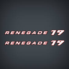 2000 2001 Javelin Renegade 19 Flat Vinyl Decal Set Garzonstudio Com