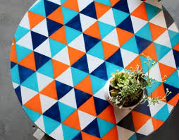 painted glass tabletop diy painting