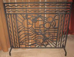 iron art deco fireplace screen sold