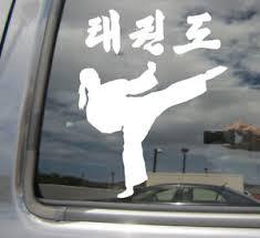 Tae Kwon Do Girl Kick Taekwondo Car Bumper Window Vinyl Decal Sticker 04066 Ebay