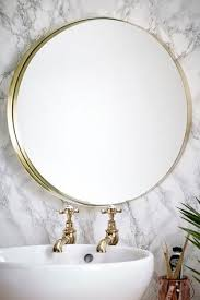 next brushed gold wall mirror gold