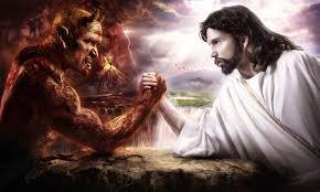 vs devil digital wallpaper
