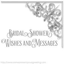 bridal shower wisheessages