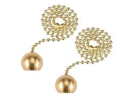 12 inch brass pull chain ornaments