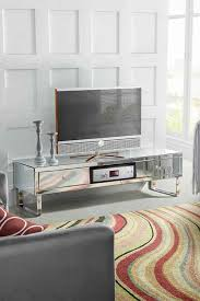 chelsea mirrored tv unit with crystal