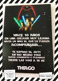 Tarjetas Invitacion Cumple Evento Star Wars Darth Vader Luke 181 00 En Mercado Libre