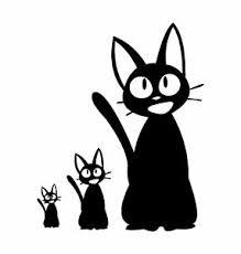 Kiki S Delivery Service Jiji Kitten Cat Anime Ghibli Vinyl Decal Sticker Laptop Ebay