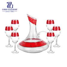 China Marbling Decal 7pcs Glass Decanter Wine Glass Goblet 1500ml Whiskey Decanters Toasting Glass Cup For Gathering Gb12105 1 Th3 China Whiskey Decanters And Glass Whiskey Decanters Price