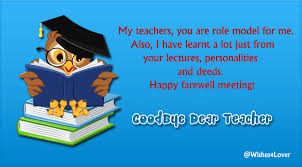 farewell messages for teachers wisheslover