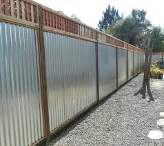 Wood With Galvanized Tin Arbor Fence Inc A Diamond Certified Company Fence Design Front Yard Fence Metal Fence Panels