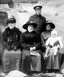 Cecil Johnson and Family, World War I, c. 1917 | New York State Archives