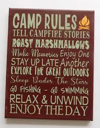 Camping Rules Wall Decals Room Decor Stickers Family Rv Camper Campsite Sign