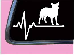 Amazon Com Aucado Lifeline Tp 241 Vinyl 8 Decal Sticker Australian Cattle Dog Blue Heeler Handmade
