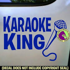 Amazon Com The Gorilla Farm Karaoke King Singing Microphone Sing Song Vinyl Decal Sticker Car Window Wall Sign Blue Home Kitchen