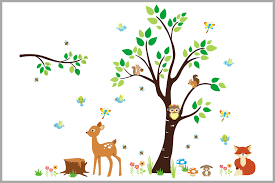 Forest And Woodland Nursery Decor Removable And Reusable Decals Nurserydecals4you