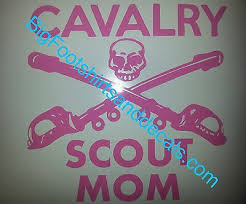 Cavalry Scout Decal Mom 19d Cav Scouts Mom Car Truck Window Sticker Many Colors