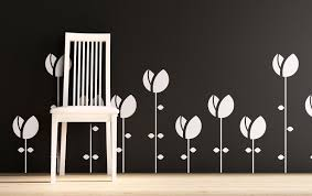 Vinyl Wall Decals Tulip Flowers Sodafish