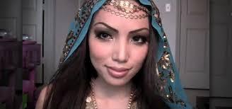 exotic arabian princess makeup look