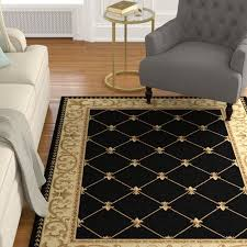 clarence oriental black gold area rug