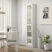 BILLY / OXBERG Bookcase with glass-door - white/glass - IKEA ...
