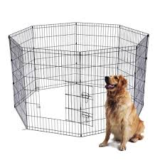 24 30 Tall Pet Playpen Dog Cage Kennel Crate 8 Panel Metal Enclosure Fence Indoor Outdoor Houses Kennels Pens Aliexpress