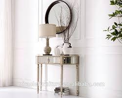 vintage gold half round mirror console