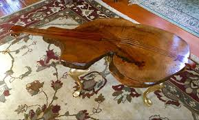 Best Rare Fiddleback Myrtle Wood Occasional Table Cello, Musical Design for  sale in Bend, Oregon for 2020