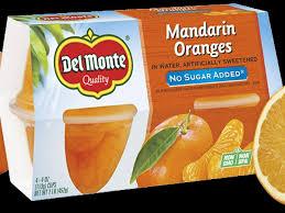mandarin orange fruit cup nutrition