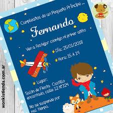 El Principito Moreno Invitacion Whatsapp