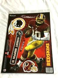 Fathead 17 Inch Sticker Wall Decal Set Washington Redskins Rg3 Robert Beantown Collectibles
