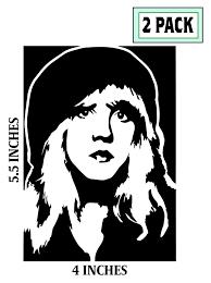 2 Pack Stevie Nicks Stickers Vinyl Decal Fleetwood Mac