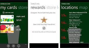 starbux card for windows phone