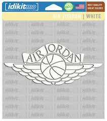 Air Jordan White Window Decal Ebay